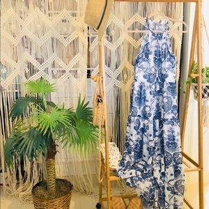 NWT Halter Maxi Flare Dress 💙